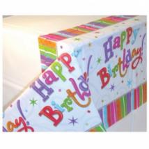 Radiant Happy Birthday műanyag asztalterítő