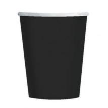 Fekete pohár 250 ml 8 db/cs