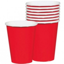 Piros pohár 250 ml 8 db/cs