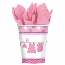 It's a girl rózsaszín pohár 267 ml 8 db/cs