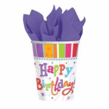 Radiant Happy Birthday pohár 250 ml 8 db/cs