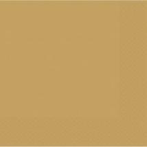 Arany színű szalvéta 33 x 33 cm kétrétegű 50 db/cs