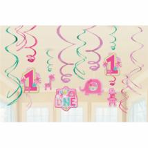 Függő dekoráció kislányoknak első szzületésnapra 12 db/cs