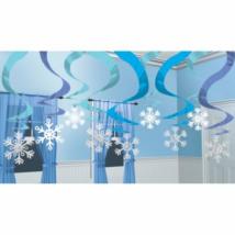 Hópehely függő dekoráció 61 cm 15 db/cs
