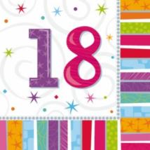 Szalvéta 18. születésnapra 33 x 33 cm kétrétegű 16 db/cs