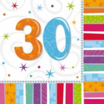 Szalvéta 30. születésnapra 33 x 33 cm kétrétegű 16 db/cs