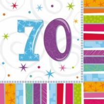 Szalvéta 70. születésnapra 33 x 33 cm kétrétegű 16 db/cs