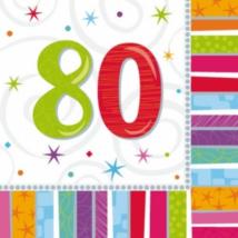 Szalvéta 80. születésnapra 33 x 33 cm kétrétegű 16 db/cs