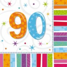 Szalvéta 90. születésnapra 33 x 33 cm kétrétegű 16 db/cs