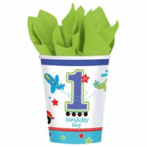 1st Birthday Boy - Járműves pohár első születésnapra 266 ml 8 db/cs