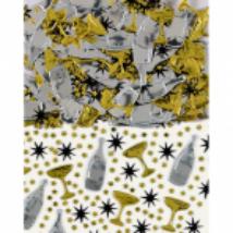 Pezsgősüveg és pohár formájú konfetti 14 g