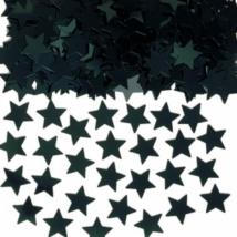 Fekete csillag formájú konfetti 14 g