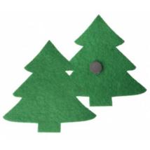 Karácsonyfa formájú zöld hűtőmágnes 75 x 75 mm