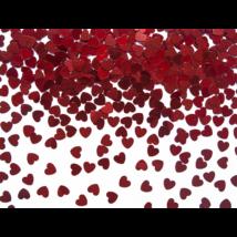 Piros szív formájú konfetti 30 g