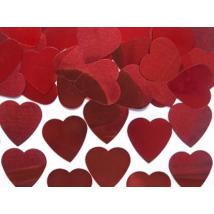 Piros szív konfetti 10 g
