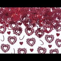 Piros szív konfetti 15 g