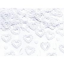Fehér szív konfetti 15 g