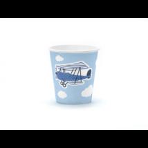 Kék repülős pohár 200 ml, 6 db/cs
