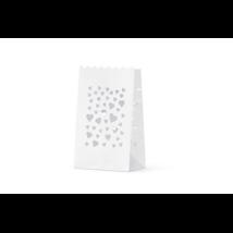 Fehér lámpás 11,5x7x19cm 10db/cs