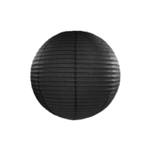 Fekete papír lampion 45 cm