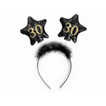 Fekete hajpánt 30. születésnapra 13 cm