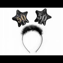 Fekete hajpánt 50. születésnapra 13 cm