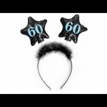 Fekete hajpánt 60. születésnapra 13 cm