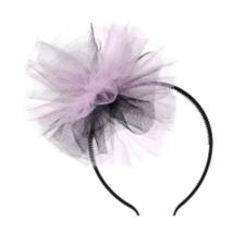 Hajpánt pink-fekete tüllel