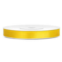 Sárga szatén szalag 6 mm x 25 m