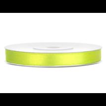 Neon zöld szatén szalag 6 mm x 25 m