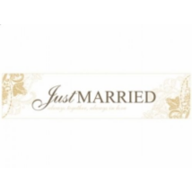 Arany-fehér Just married rendszámtábla 50 x 11,5 cm