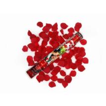 Vörös rózsaszirom konfetti ágyú 40 cm