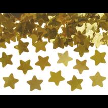 Arany színű csillag konfetti ágyú 80 cm