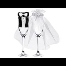 Pohárruha esküvői pár