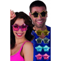 Csillag formájú szemüveg különböző színekben