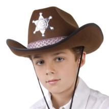 Barna Sheriff kalap gyerekeknek