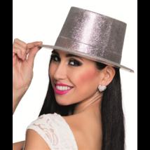 Ezüst glitteres kalap