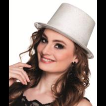 Fehér glitteres kalap