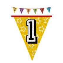 Hologramos zászló 1. születésnapra, 8 m 16 zászlóval