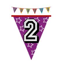 Hologramos zászló 2. születésnapra, 8 m 16 zászlóval