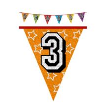 Hologramos zászló 3. születésnapra, 8 m 16 zászlóval