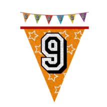 Hologramos zászló 9. születésnapra, 8 m 16 zászlóval