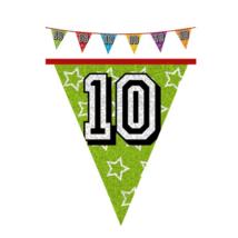 Hologramos zászló 10. születésnapra, 8 m 16 zászlóval