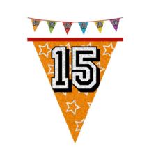 Hologramos zászló 15. születésnapra, 8 m 16 zászlóval