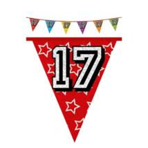 Hologramos zászló 17. születésnapra, 8 m 16 zászlóval