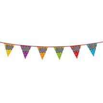 Hologramos zászló 100. születésnapra, 8 m 16 zászlóval
