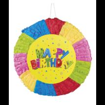Happy Birthday feliratos  pinyata 40x40cm
