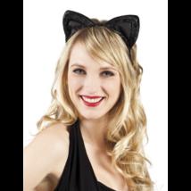 Fekete cica fül tiara