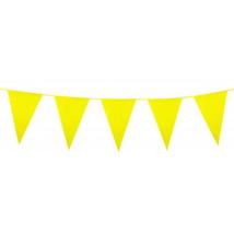 Óriás sárga műanyag zászló 46 x 30 cm 10 m