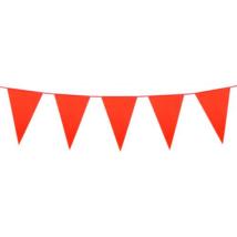 Óriás narancs műanyag zászló 46 x 30 cm 10 m